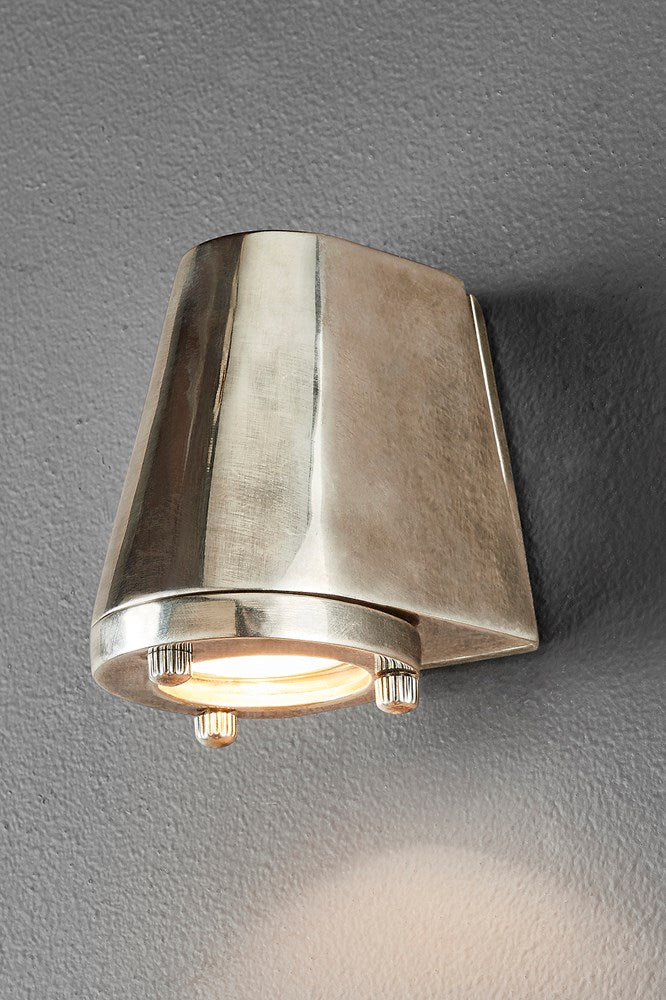 Seaman - Antique Silver - Compact Solid Metal Wall Lamp