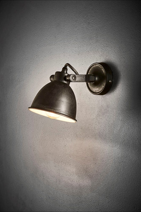 Phoenix Wall - Matt Black and White - Solid Metal Wall Light with Pivoting Shade