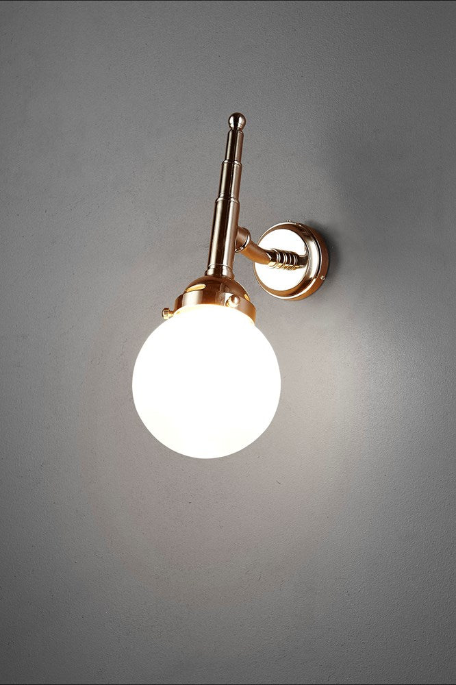Paris Wall - Antique Silver and Frosted Glass - Pivoting Wall Lamp with Frosted Glass Cover