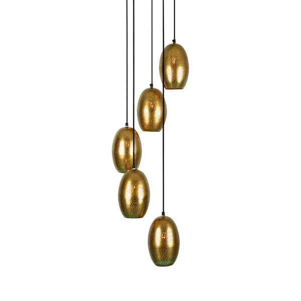 Constellation - Brass - Perforated Pendant Light Cluster