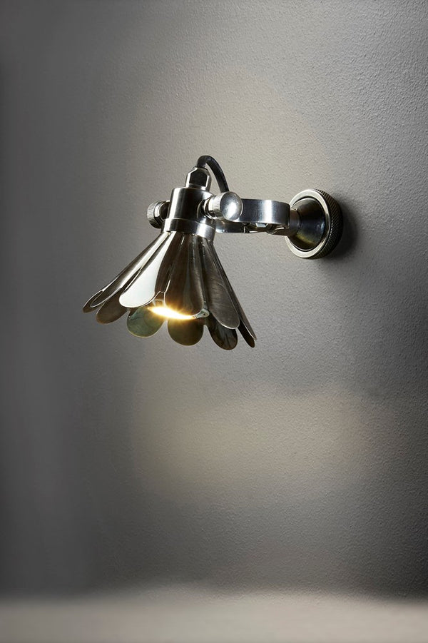 Aberdeen Wall - Antique Silver - Solid Metal Adjustable Wall Lamp