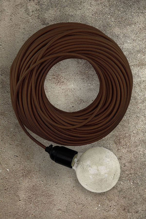 Fabric Electrical Cord - Brown