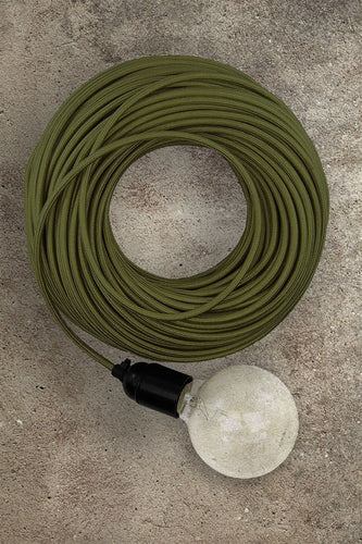 Fabric Electrical Cord - Green