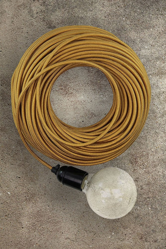 Fabric Electrical Cord - Gold