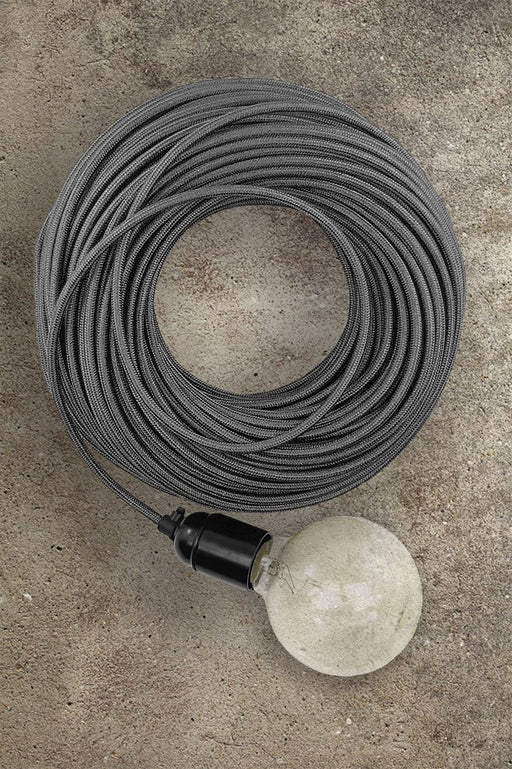 Fabric Electrical Cord - Grey