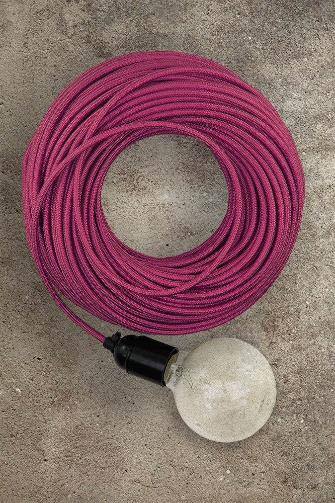 Fabric Electrical Cord - Pink