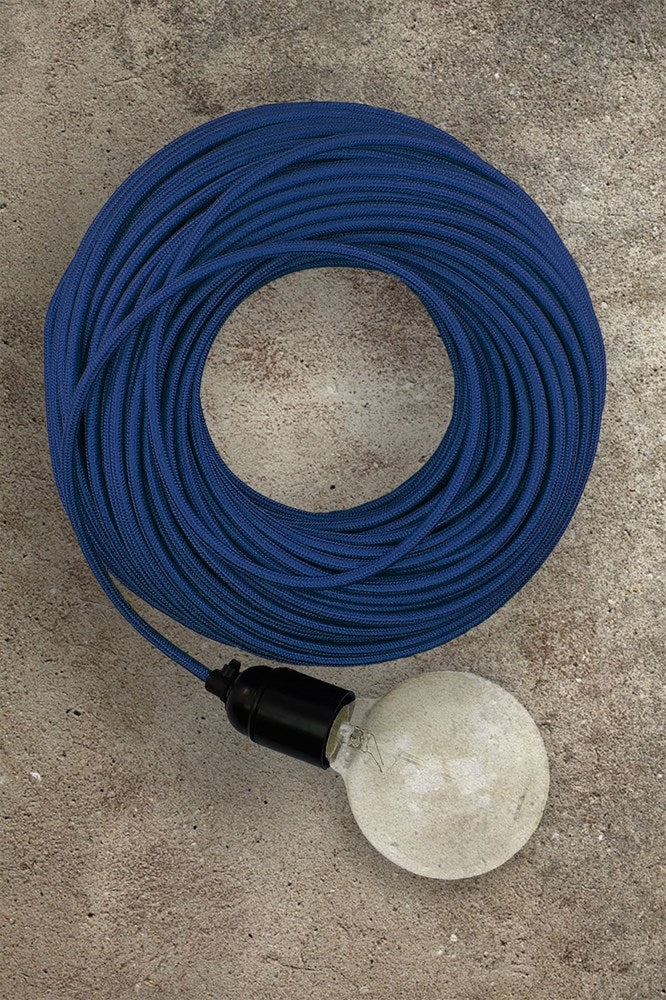 Fabric Electrical Cord - Royal Blue