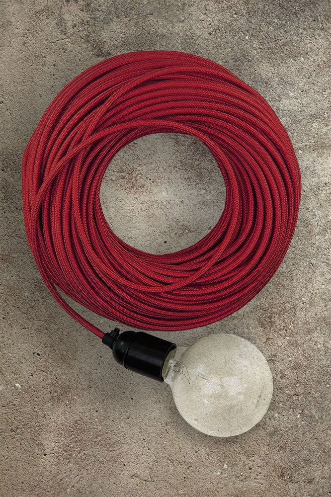 Fabric Electrical Cord - Red