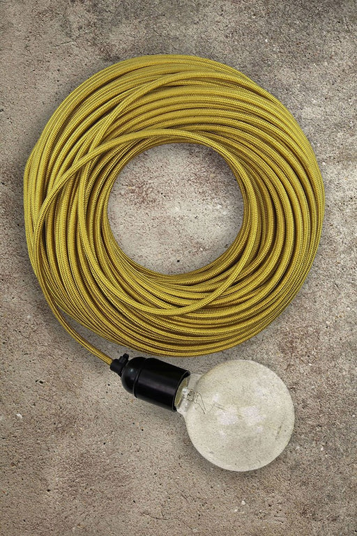 Fabric Electrical Cord - Yellow