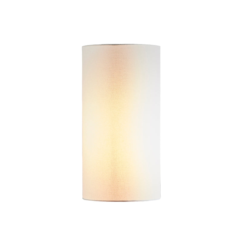 Small Tall Cylinder Lamp Shade (12x12x22 H) - Textured Ivory - Linen Lamp Shade with E27 Fixture