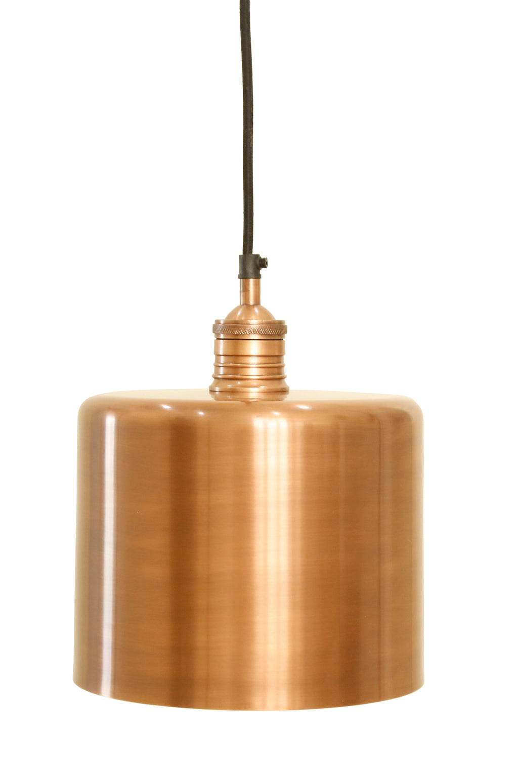 Zurich 2 Medium Antique Copper Drum Pendant Light