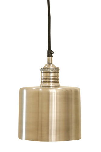 Zurich 2 Small - Antique Silver - Drum Pendant Light