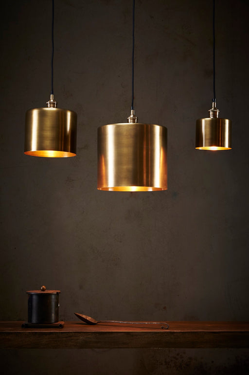 Zurich 2 Small - Antique Brass - Drum Pendant Light