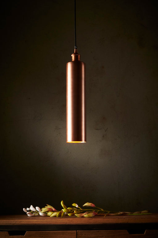 Zurich Long - Antique Copper - Drum Pendant Light