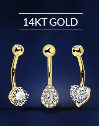 14KT Gold Belly Rings