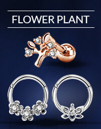 Flower Plant Earrings