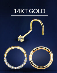 14KT Gold Nose Rings