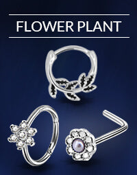 Flower Plant Nose Rings