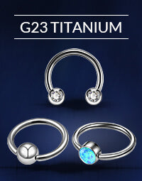 G23 Titanium Nose Rings