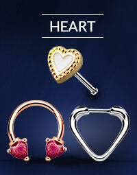 Heart Nose Rings
