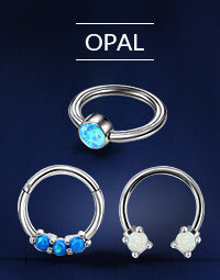 Opal Nose Rings