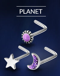 Planet Nose Rings