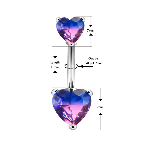 14g purple belly button ring