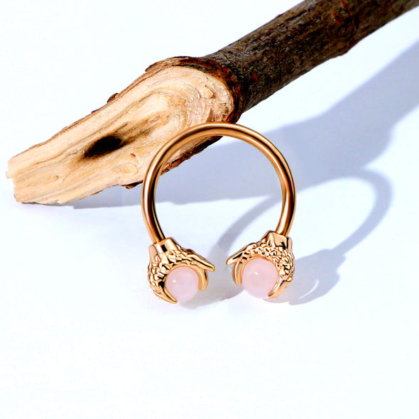 rose gold dragon claw septum ring - oufer body jewelry