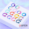 2PCS 20G Yellow Horseshoe Septum Ring - OUFER BODY JEWELRY