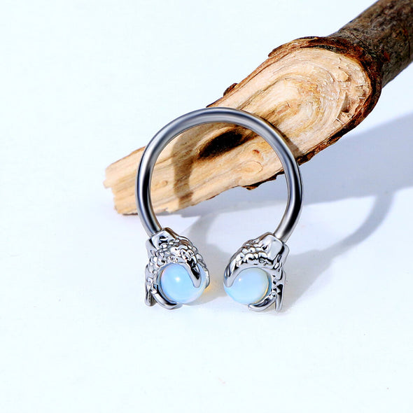 dragon claw steel septum ring - oufer body jewelry