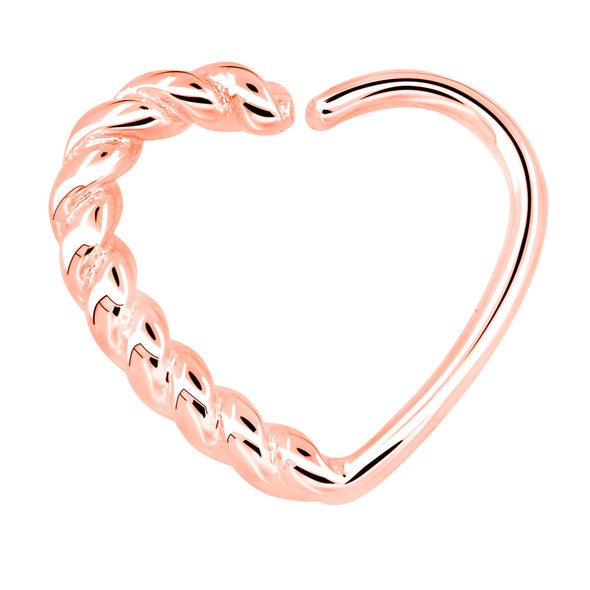 daith heart jewelry rose gold