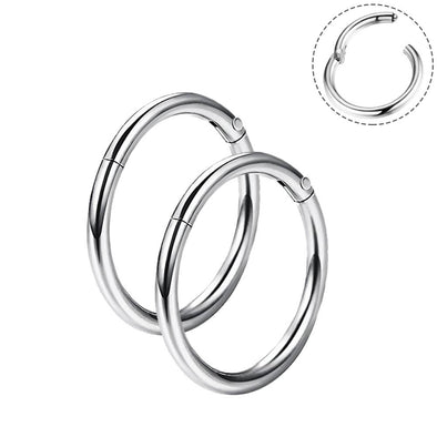 16G Hinged Segment Classic Hoop Nose Ring Cartilage Earrings - OUFER BODY JEWELRY
