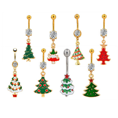 tree belly button ring pack