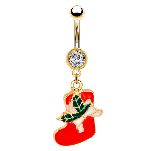 stocking cute dangle belly rings