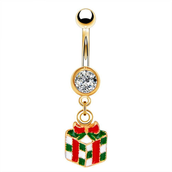 oufer cz gift box belly button rings
