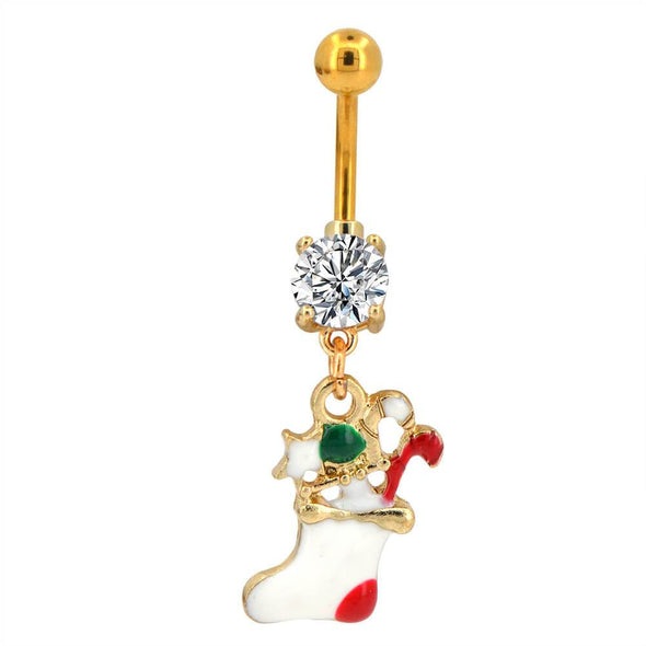 oufer stocking cute dangle belly rings