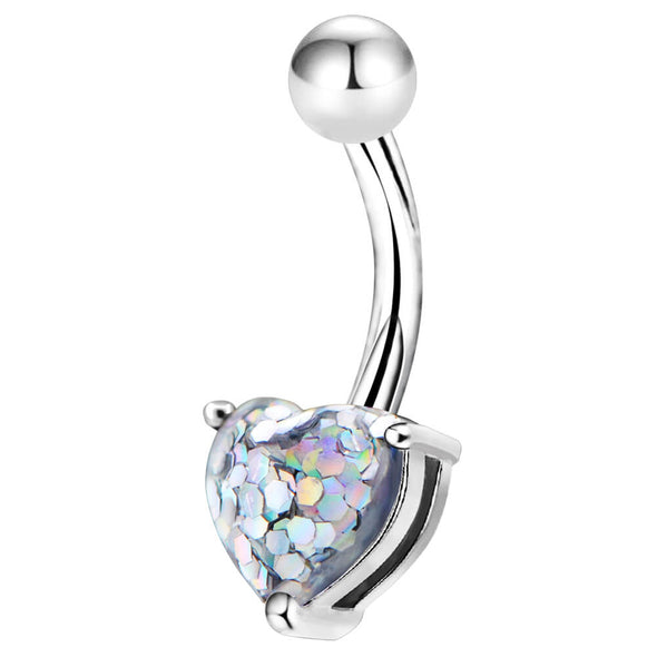 diamond belly button ring