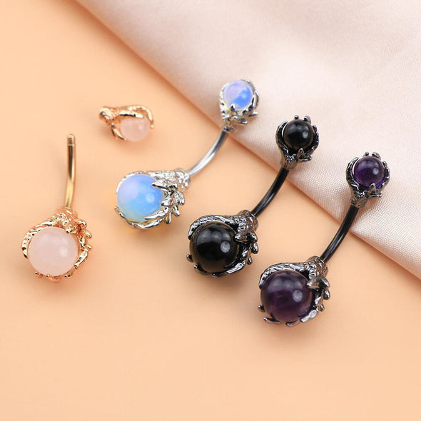 oufer dragon claw belly rings