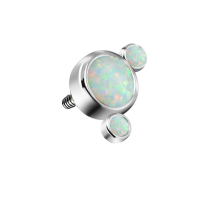 16G G23 Titanium Internally Threaded Dermal Anchor Tops Opal Cluster Microdermals Body Piercings Jewelry