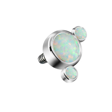 14G G23 Titanium Internally Threaded Dermal Anchor Tops Opal Cluster Microdermals Body Piercings Jewelry