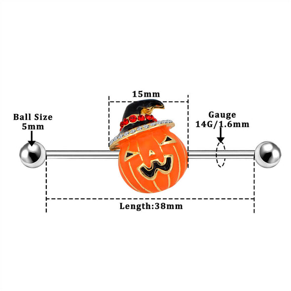 38mm pumpkin industrial barbell