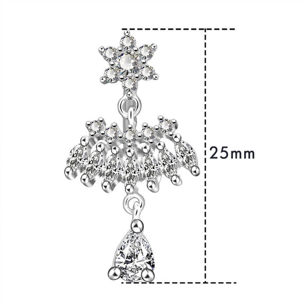 14g dangle belly button ring