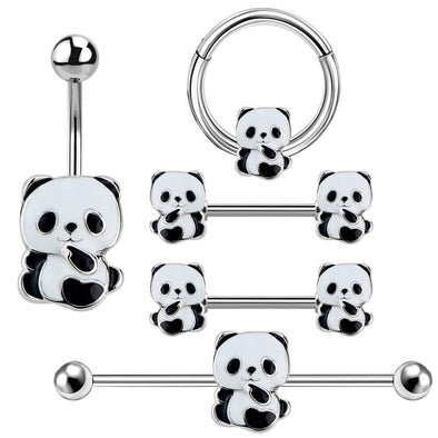 Panda Body Jewelry Collection Set of 5 - OUFER BODY JEWELRY