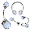 Opalite Dragon Claws Body Jewelry Collection Set of 4 - OUFER BODY JEWELRY