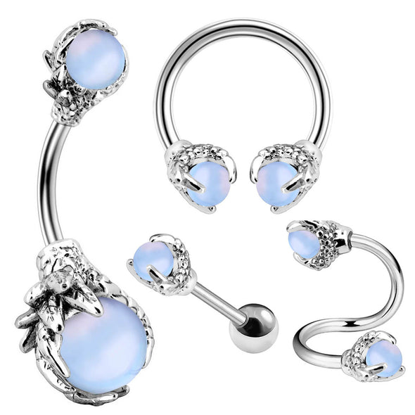 Opalite Three Dragon Claws Piercings Collection Set