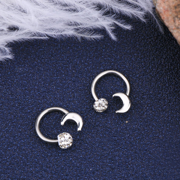 16G 316L Stainless Steel Surgical Steel Horseshoe Daith Earring - OUFER BODY JEWELRY
