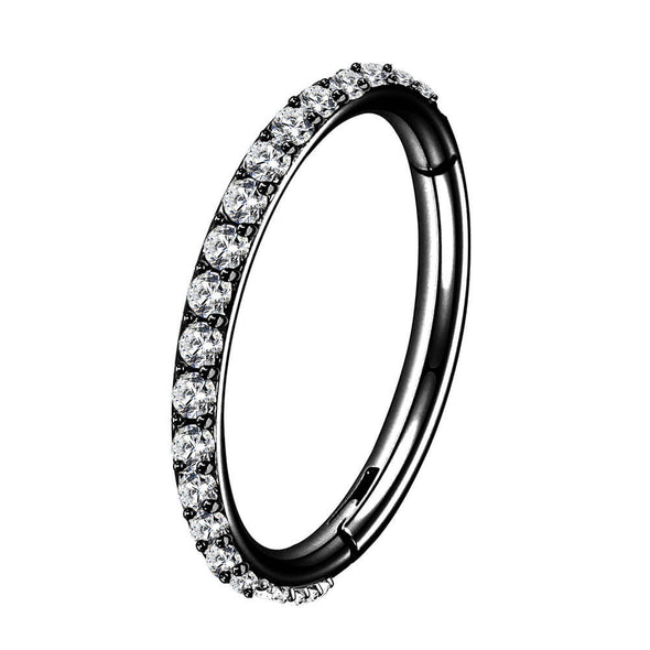 black hinged segment hoop ring