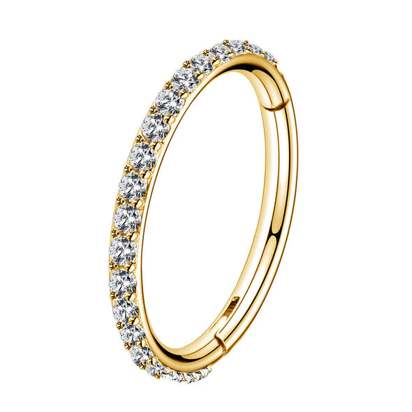 gold hinged segment hoop ring