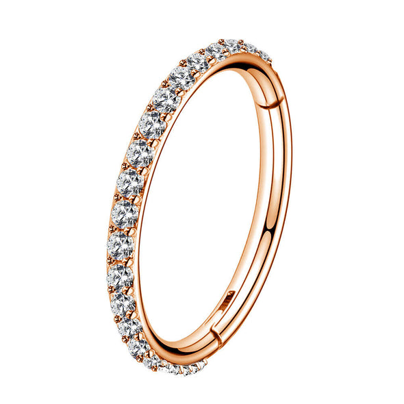 rose gold hinged segment hoop ring