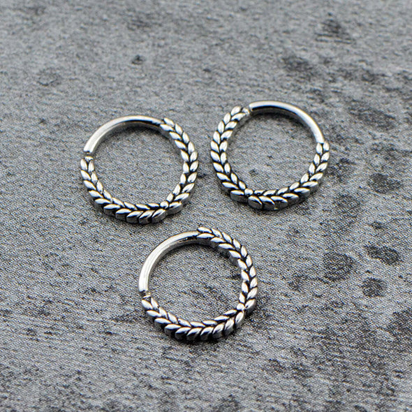 18G Icker Stainless Steel Bendable Daith Piercing Ring - OUFER BODY JEWELRY